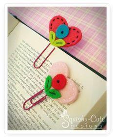 projetos crianças costura, marcador coração, Dia dos Namorados