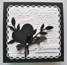 Ann Craig - Stampin' Up! Independent Demonstrator: Wedding Card in Black and white