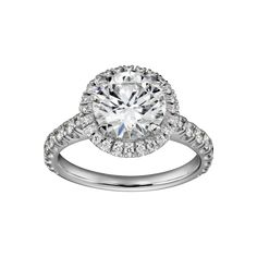 Cartier Destinée Solitaire - Ring in platinum 950‰, micropaved with brilliant-cut diamonds, central brilliant-cut diamond available from 0.50 - 0.79, 1.00 -1,69 and 2.00 - 4.99 carats.