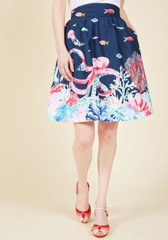 Style Study A-Line Skirt in Marine Bio