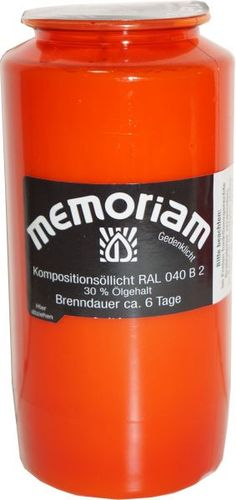 Memoriam Rot Grabkerze ca. 6 Tage Drink Bottles, Vitamins, Water Bottle, Container, Drinks, Candles, Red, Drinking, Beverages