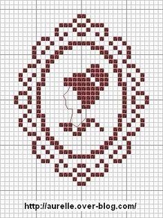 0 point de croix cameo lady - cross stitch