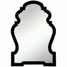 Cooper Classics Harrison Wall Mirror in Glossy Black