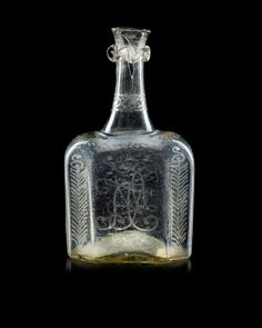 A Swedish bottle, 18th Century, presumably Skånska Glasbruket.