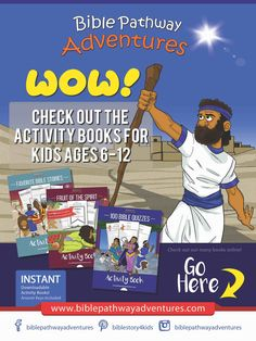 Bible stories and printable Bible Activity Books for Kids and Teachers. Support Bible Pathway Adventures by buying our books in our Book Store. Bible Resources, Bible Activities, Sabbath School Lesson, Homeschool Curriculum, Homeschooling, Bible Stories For Kids, Activity Books, Sunday School Lessons, Fun Learning