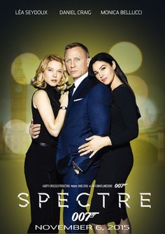 Spectre with Daniel Craig, Monica Bellucci and Lea Seydoux