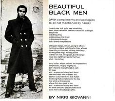 """Beautiful Black Men"" by Nikki Giovanni"