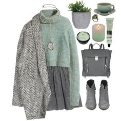A fashion look from December 2014 featuring green sweater, shawl coat and Madewell. Browse and shop related looks.