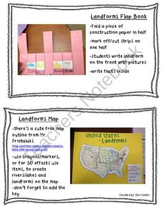 Landform Mini-Unit from Sparkling in Second on TeachersNotebook.com (6 pages)  - Free Landform Mini-Unit with ppt