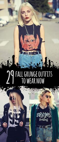 29 Fall Grunge Outfit Ideas to Wear Now - Is your wardrobe ready for this Fall? Get a look at these 29 Grunge outfit ideas for this autumn! There are Sweaters, Platform Shoes, Dr Martens Boots, Jackets, Tights & much more! Read the article right here: http://ninjacosmico.com/29-grunge-outfit-ideas-fall/