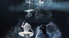 5000 liters of water on stage and dancers with helmet - the Swan Lake, Oslo Opera House. PHoto: Erik Berg / Den Norske Opera og Ballett.