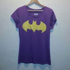 Final Price Batman 2xl purple shirt Good condition  Has wrinkles  Fits more like an extra large DC Comics Tops Tees - Short Sleeve