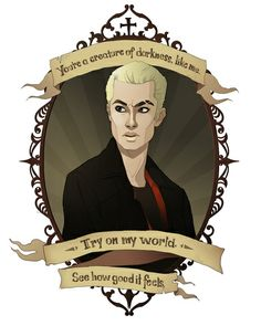 Spike Cameo Collection- Art/Poster Spike, an infamous vampire, Spike began to help Buffy in her fight once he could no longer bite humans. Later, he fought to get his soul back so that Buffy could love him, and sacrificed himself for her. Spike Buffy, Buffy The Vampire Slayer, Vampire Art, Fangirl, Buffy Summers, Joss Whedon, Angel Art, Try On, Our Lady