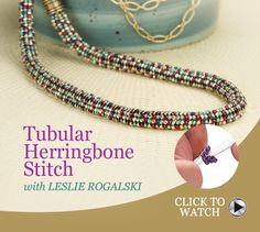 Tubular Herringbone Stitch Tutorial