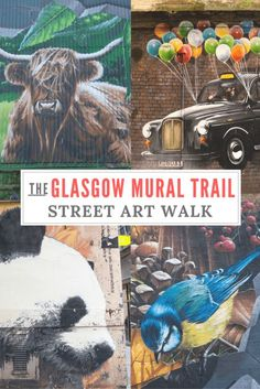 The Glasgow Mural Trail: A photo essay and some quick thoughts about the Glasgow Mural Trail, a quirky, self-guided walk past Glasgow's best street art. A fun idea if you're looking for things to do in Glasgow! Scotland Vacation, Scotland Road Trip, Scotland Travel, Ireland Travel, Ireland Uk, Scotland Street, Glasgow Scotland, England And Scotland, Highlands