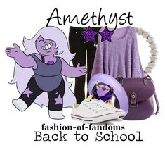 """""""Amethyst"""" by fofandoms ❤ liked on Polyvore featuring Topshop, Dooney & Bourke, Tiffany & Co. and Converse"""