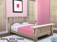 The Sims 4 | orangemittens Sophia Solid Colors Double Mattress recolors | buy mode new objects bed room