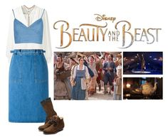 """the village_ blue Dress-Belle"" by herzblut1 ❤ liked on Polyvore featuring Disney, Erin Fetherston, M.i.h Jeans, Marni, Rupert Sanderson, Lucky Brand, BeautyandtheBeast and contestentry"