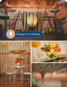 Vintage Circus Wedding Part 1   take these ideas and transform into any theme you love...