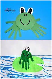Znalezione obrazy dla zapytania frog craft for toddlers