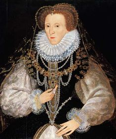 On this day 24th March, 1603 after 44 years of reign Queen Elizabeth 1 died.  (The Kitchener Portrait of Queen Elizabeth I (1533-1603) The English and Scottish crowns were united when James VI of Scotland became James I of England
