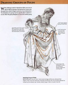 Drawing Tutorial складочки, платье тоже красивое