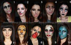 Halloween Ideas  http://deea-makeup.blogspot.ro