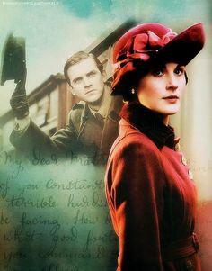 DOWNTON ABBEY •Michelle Dockery/Lady Mary Crawley •Dan Stevens/Matthew Crawley