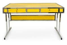 1970s Yellow Desk, brought back straight from our shopping trip to Paris with Kelly Wearstler!