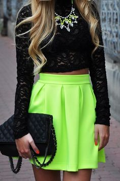 A cute way to wear neon ... just not to work! #PersonalLeadership #Women