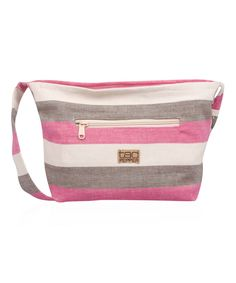 Pink Stripe Georgian Crossbody Bag