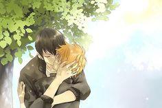 Haikyuu!! ~~ A stolen kiss in the shade :: Hinata and Kageyama