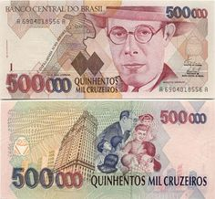 Brasil 200 Cruzeiros P199b 1984 Uncirculated Banknote World Paper Money