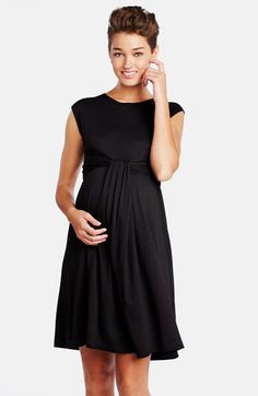 Free shipping and returns on Maternal America 'Empire Cascade' Maternity Dress at Nordstrom.com. A knot detail flows from the gathered Empire waist to shape the fluid skirt of a lightweight knit dress.