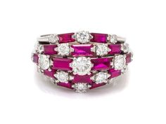 A Platinum, Diamond and Ruby Ring, Oscar Heyman Brothers.