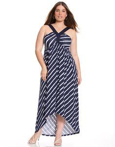 Y-halter maxi dress by Lane Bryant   Lane Bryant