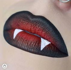 21 Insanely Intricate Lip Art Looks for Halloween Beauty - - 21 Insanely Intricate Lip Art Looks for Halloween Beauty Halloooooooween 21 Wahnsinnig komplizierte Lippenkunst sucht Halloween-Schönheit Cute Halloween Makeup, Halloween Looks, Halloween Recipe, Halloween Art, Women Halloween, Halloween Games, Halloween Projects, Vampire Halloween Costumes, Halloween Decorations