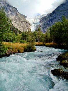 Briksdal Glacier, Jostedalsbreen National Park, Norway