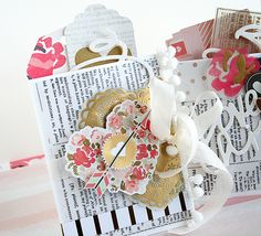 I just love this time of year, as Valentine's Day is one of my favorite holidays for giving and appreciating my loved ones! I've created two little pockets with the January kits that could be used ...