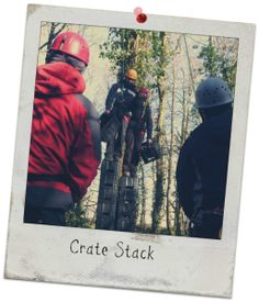 Crate Stack, Carreg Adventure, Stouthall Country Mansion