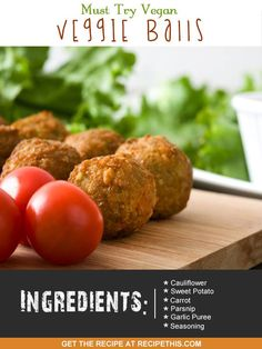 Airfryer Recipes | Must Try Vegan Veggie Balls From RecipeThis.com