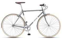 Viva Legato 7 Mustache Bar City Bicycle, 700c wheels, 56 cm frame, Men's Bike, Metallic Green - http://www.bicyclestoredirect.com/viva-legato-7-mustache-bar-city-bicycle-700c-wheels-56-cm-frame-mens-bike-metallic-green/