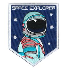 Space Explorer Embroidered Sew or Iron-on Backing Patch