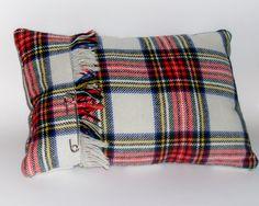 Scottish Tartan boudoir pillow cushion by MissWinnieMakes on Etsy, £14.00
