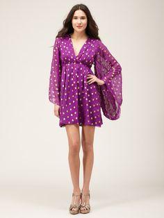 Pleated Silk Caftan Dress by Thread Social on Gilt