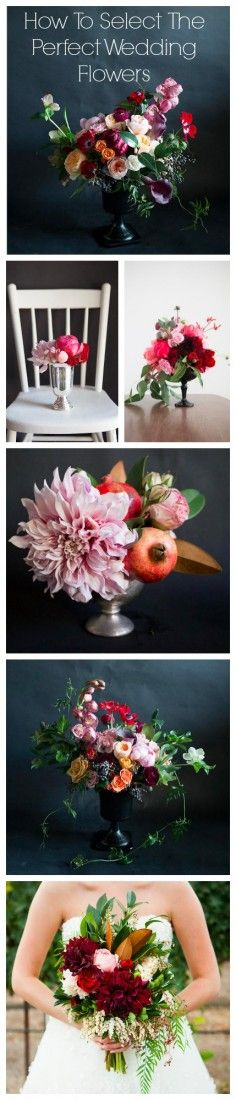 Selecting the perfect #weddingflowers can be difficult but this guide will help get you started. Let the fun begin! #weddinginspiration