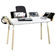 Bureau Design My Writing Desk 2 tiroirs - Blanc  - Emko - Visuel 1