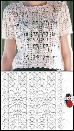 Short Sleeve Dresses, Dresses With Sleeves, Summer Tops, Free Crochet, Free Pattern, Toque, Amelia, Lace, How To Wear