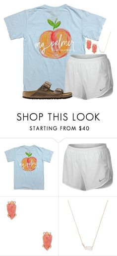 """just tap it in, tap it in"" by legitimately-kierstin ❤ liked on Polyvore featuring NIKE, Kendra Scott and Birkenstock"