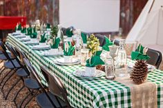 """Party table from """"Glamping"""" Glamorous Camping Birthday Party at Kara's Party Ideas!"""
